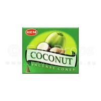 Hem Incense Cones - Coconut - 1 Packet / 10 Cones