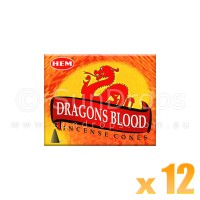Hem Incense Cones - Dragons Blood - 12 Packets / 120 Cones