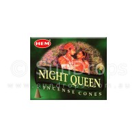 Hem Incense Cones - Night Queen - 1 Packet / 10 Cones