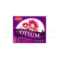 Hem Incense Cones - Opium - 1 Packet / 10 Cones