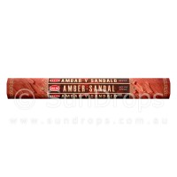Hem Incense Sticks - Amber Sandal - 1 Packet / 20 Sticks