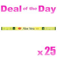 Hem Incense Sticks - Aloe Vera - 25 Packets / 200 Sticks