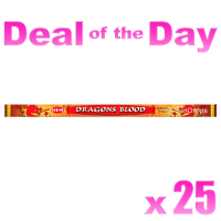 Hem Incense Sticks - Dragons Blood - 25 Packets / 200 Sticks