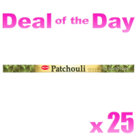 Hem Incense Sticks - Patchouli - 25 Packets / 200 Sticks