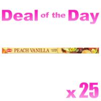 Hem Incense Sticks - Peach Vanilla - 25 Packets / 200 Sticks