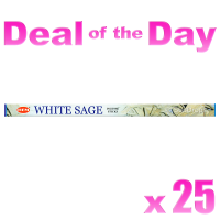 Hem Incense Sticks - White Sage - 25 Packets / 200 Sticks