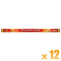 Hem Incense Sticks - Dragons Blood Red - 12 Packets / 96 Sticks
