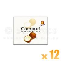 Kamini Incense Cones - Coconut - 12 Packets / 120 Cones