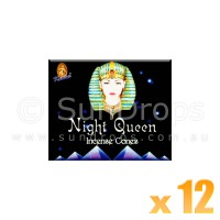 Kamini Incense Cones - Night Queen - 12 Packets / 120 Cones