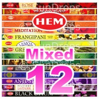 Mixed Hem Squares - 12 Packets / 96 Sticks