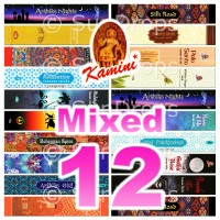 Kamini Incense Sticks - Mixed Pack - 15g x 12