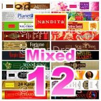 Nandita Incense Sticks - Mixed Pack - 15g x 12