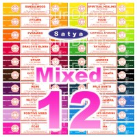 Satya Incense Sticks - Mixed Pack - 15g x 12