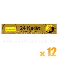 Nandita Incense Sticks - 24 Karat - 15g x 12
