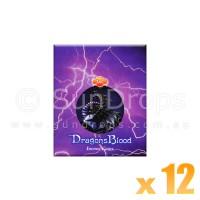 Sandesh Incense Cones - Dragons Blood - 12 Packets / 120 Cones