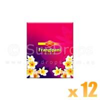 Sandesh Incense Cones - Frangipani - 12 Packets / 120 Cones