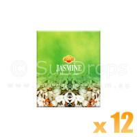 Sandesh Incense Cones - Jasmine - 12 Packets / 120 Cones