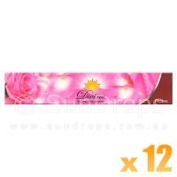 Sandesh Incense Sticks - Divine Natural Flora - Rose - 15g x 12