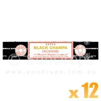 Satya Natural Series - Black Champa - 15g x 12