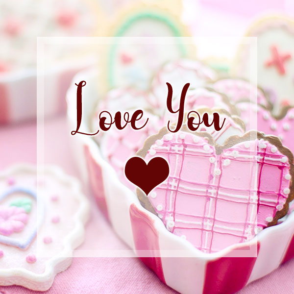 Love You - More Heart Cookies